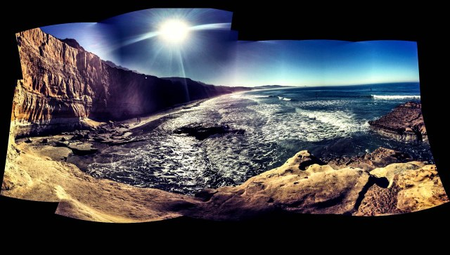 Raw panorama shot of Del Mar, California