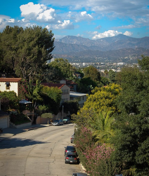 Clouds over the San Gabriels